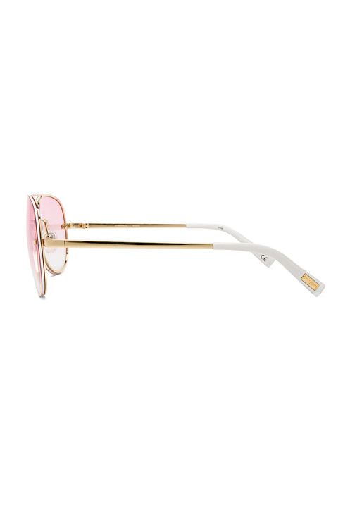 Hyperspace Bright Gold White Sunglasses