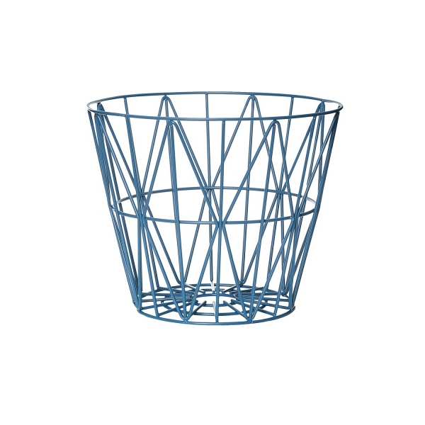 Wire Basket Small Blue