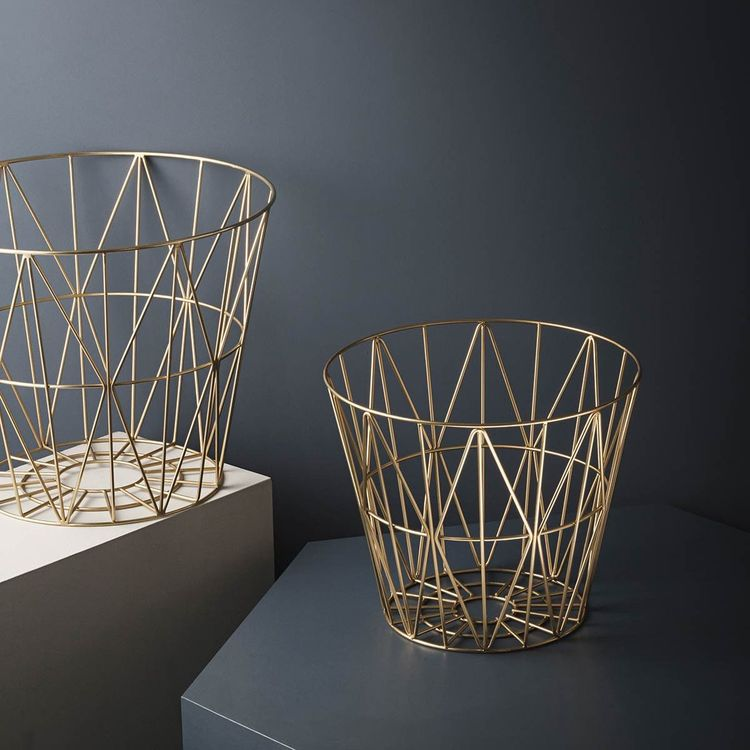 Wire Basket Small Gold