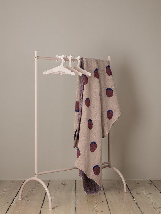 Double Dot Blanket Rose