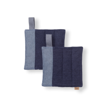 Denim Pot Holders Blue Set of 2
