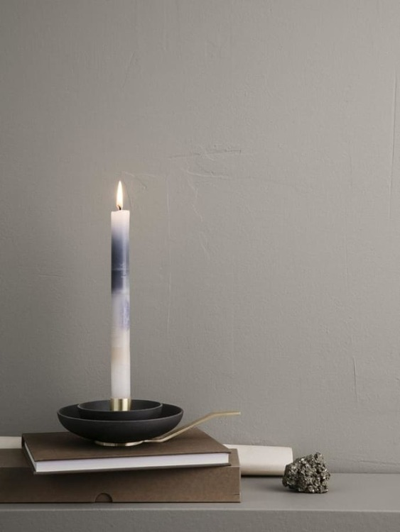 Around Candle Holder Charcoal