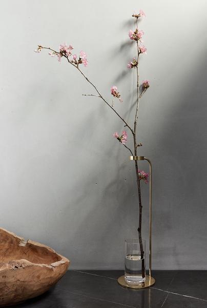 Stem Vase Polished Brass