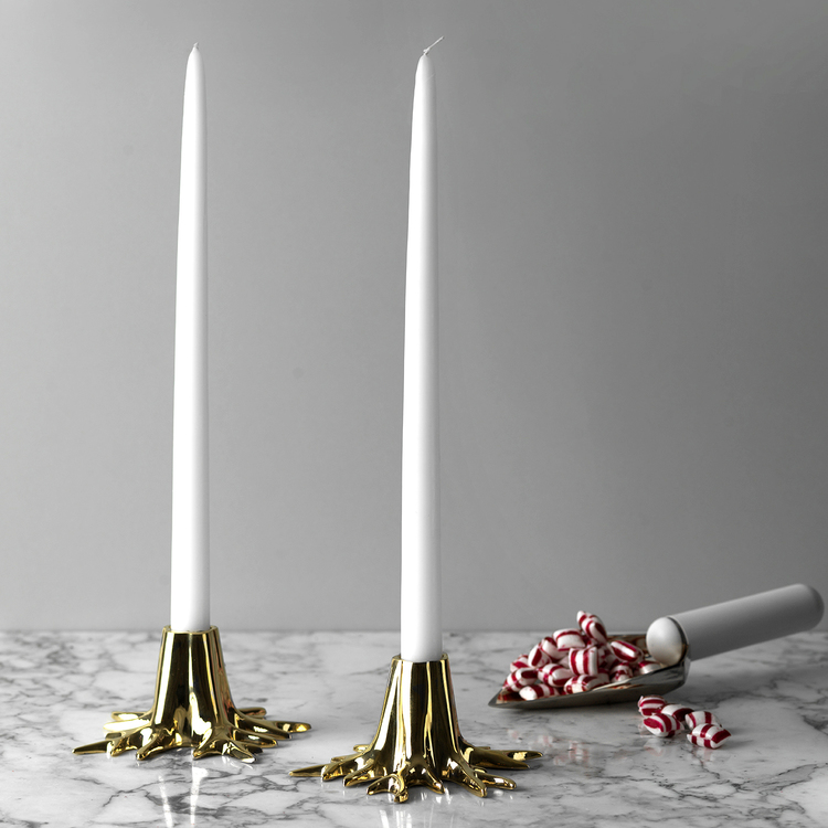 "CANDLE HOLDER ""MINI ROOT"" – GOLD"