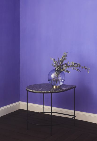 GLOBE vase w. stand Rose / Gold- Large