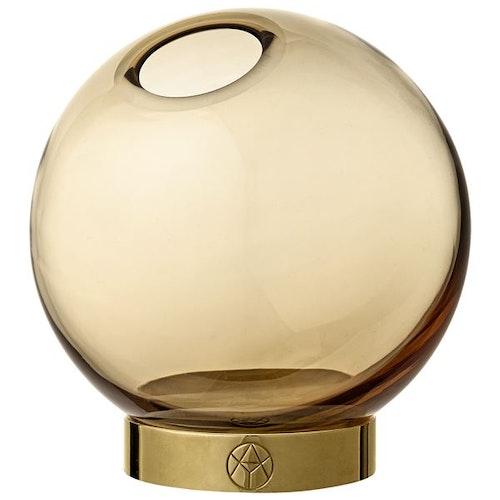 GLOBE vase w. stand Amber / Gold - Large