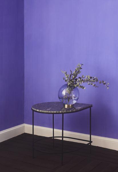 GLOBE vase w. stand Black/ Black Large