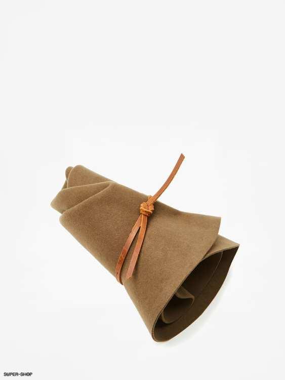 Wesley Fedora Unisex Hat - Olive/Brown