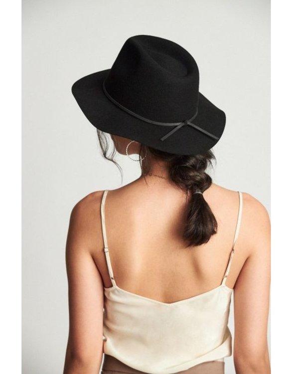 Wesley Fedora Black Unisex Hat