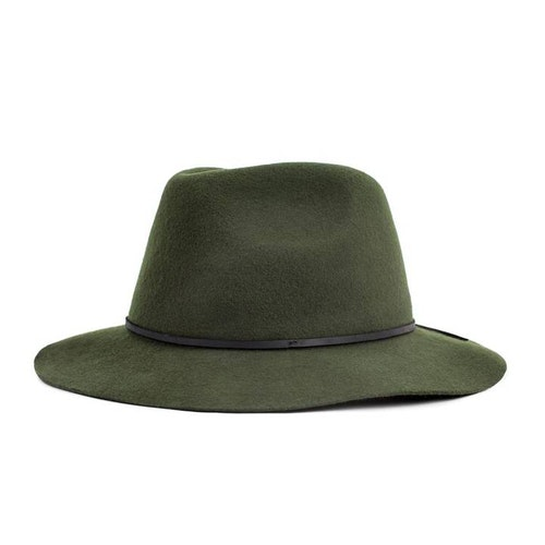 Wesley Fedora Hat - Moss Green