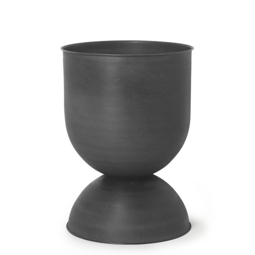 Hourglass Pot - Black Medium