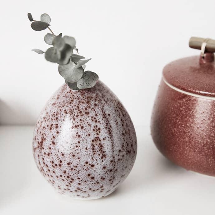 Vase, Baby, White / Red