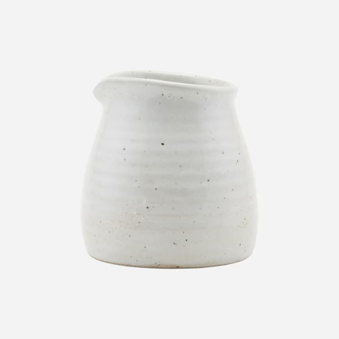 Milk jug Made Ivory/Black