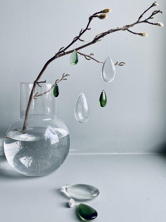 Green dream - glass dropps - set of 3