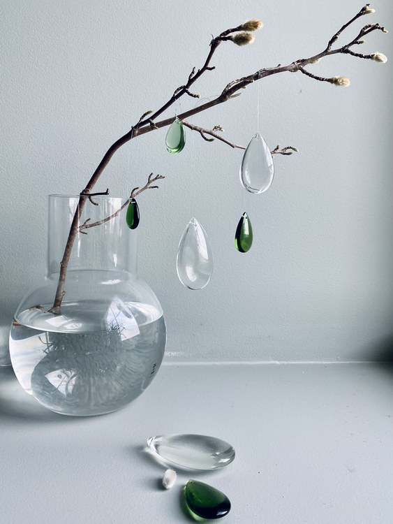 Green dream - glass dropps - set of 7