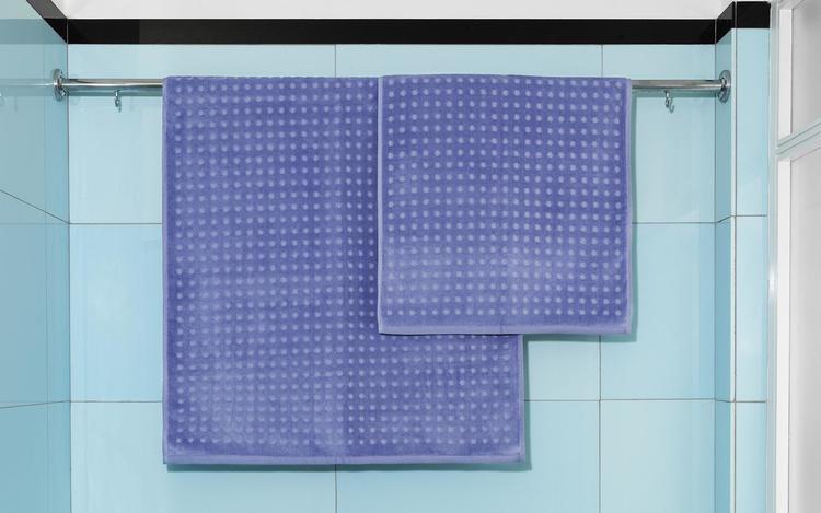 Imprint Towel 50x100 Dot Cornflower