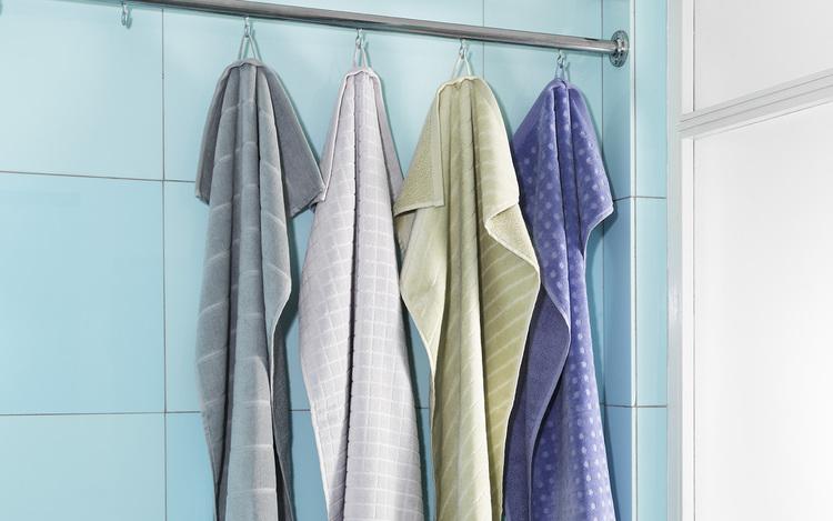 Imprint Towel 70x140 Grid Lilac