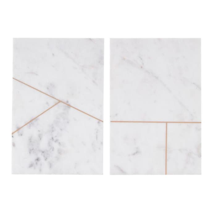 CUTTING BOARD, MARBLE set of 2