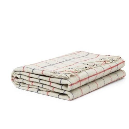 Throw Blanket Simple Check Warm Grey