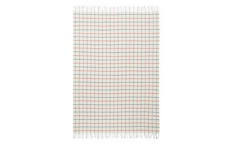 Throw Blanket Simple Check Warm Grey