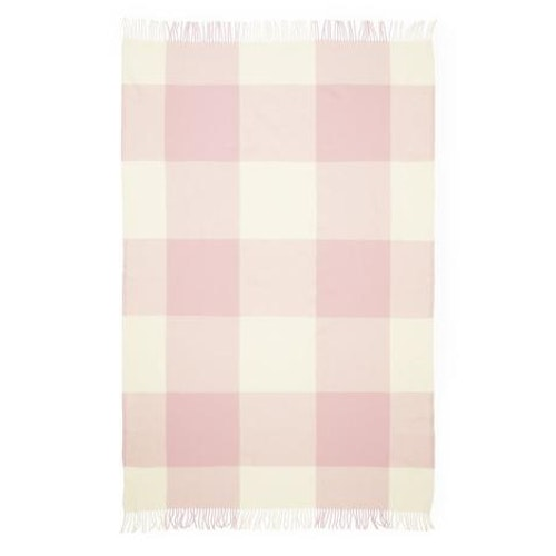 Throw Blanket Mega Check Candyfloss Rose