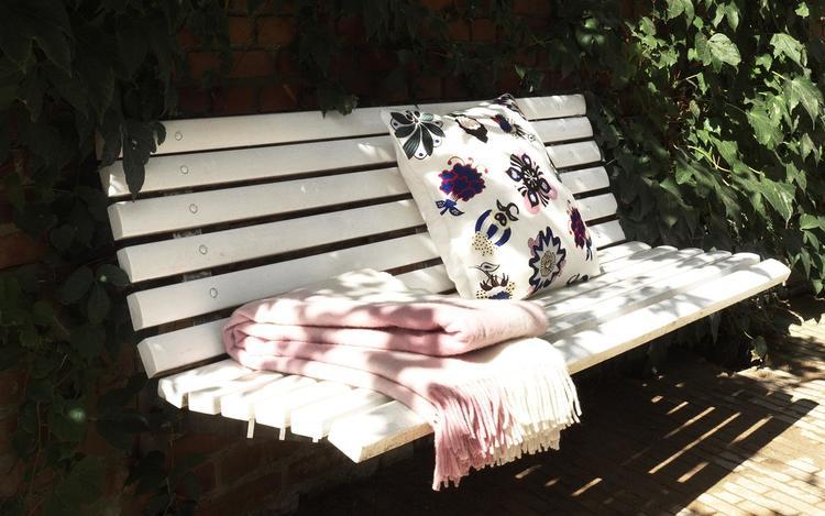 Throw Blanket Mega Check Candyfloss Rose
