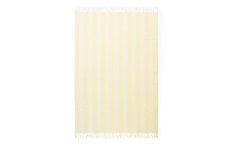 Throw Blanket Candy Stripe Pale Yellow