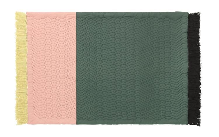 Trace Rug Blush/Dark green