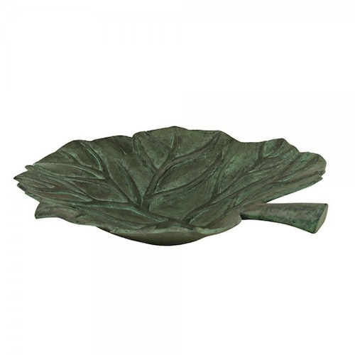 LEAF-SHAPED DISH, MADE OF BRONZED ALUMINIUM