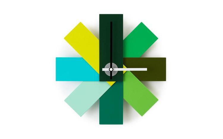 Watch Me Wall Clock Green