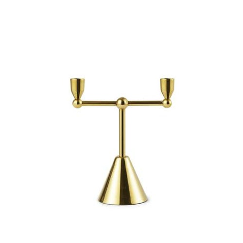 Tivoli Pirouette Candle Holder 2 Brass