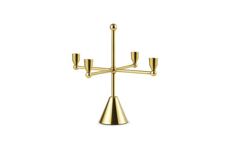 Tivoli Pirouette Candle Holder 4 Brass