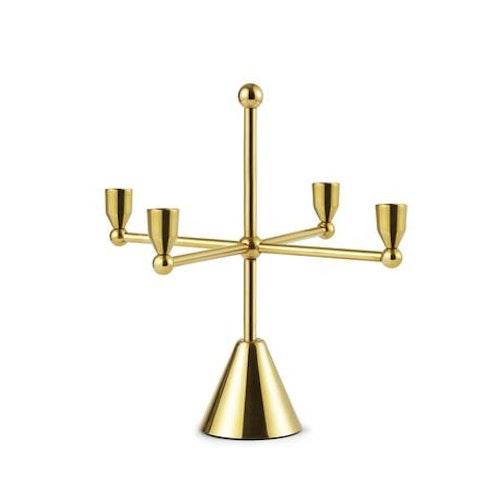 Tivoli Pirouette Candle Holder 4 Brass