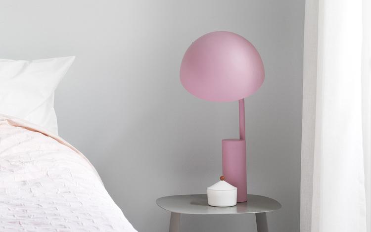 Cap Table Lamp EU Misty Blue