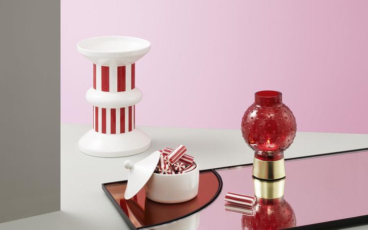 Story Tealight Holder Lollipop Red