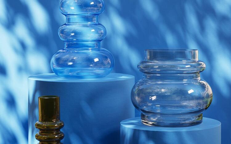 Balloon Vase Medium Clear
