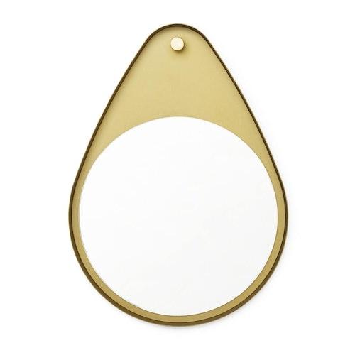 Peacock Mirror Brass