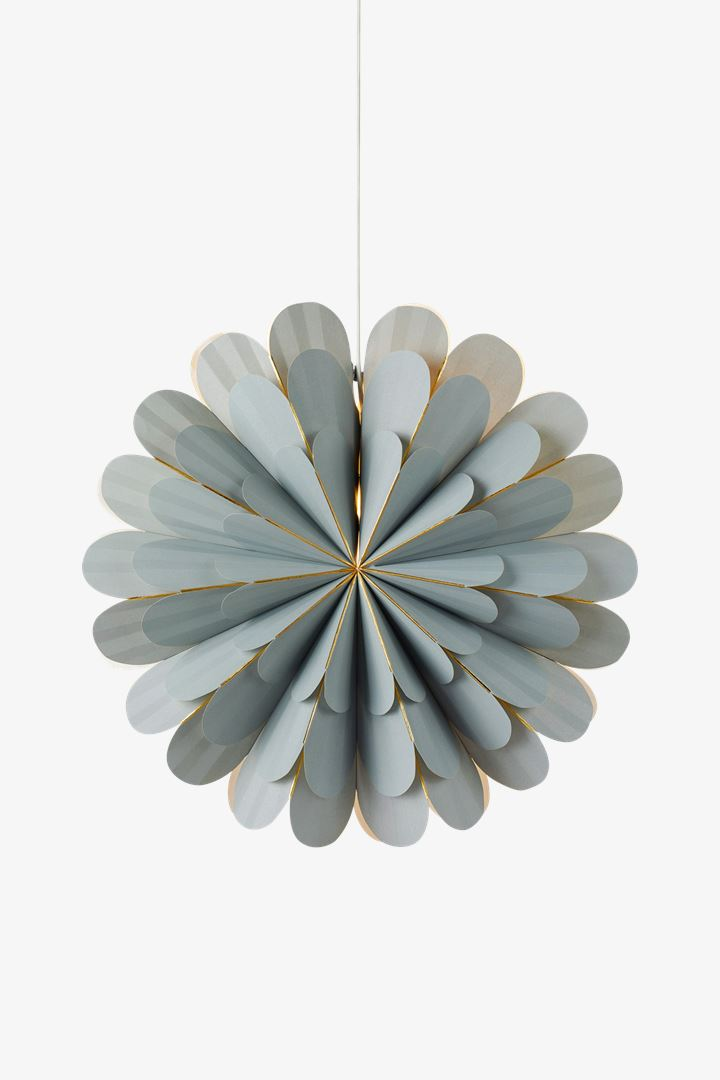MARIGOLD Light Grey Poinsettia Large 60 cm