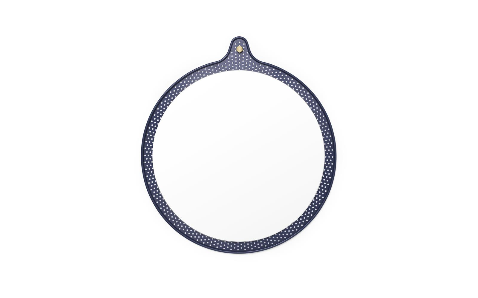 Ticket Mirror Small Ø 45 cm Dusk Blue