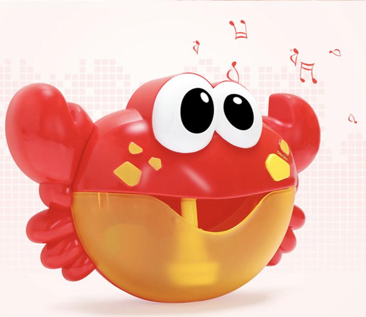 Badkrabba med bubblor och musik