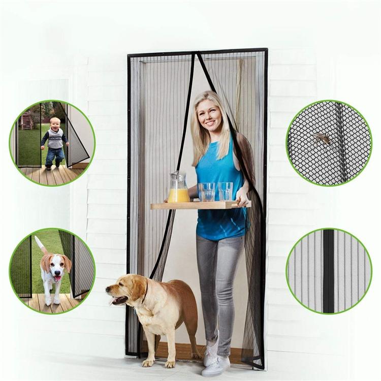 Myggnät med magnet för dörr - vit