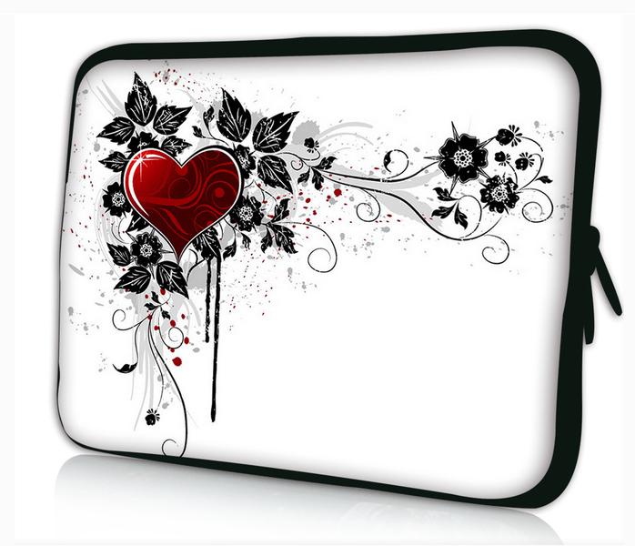 Datorfodral - Röd hjärta