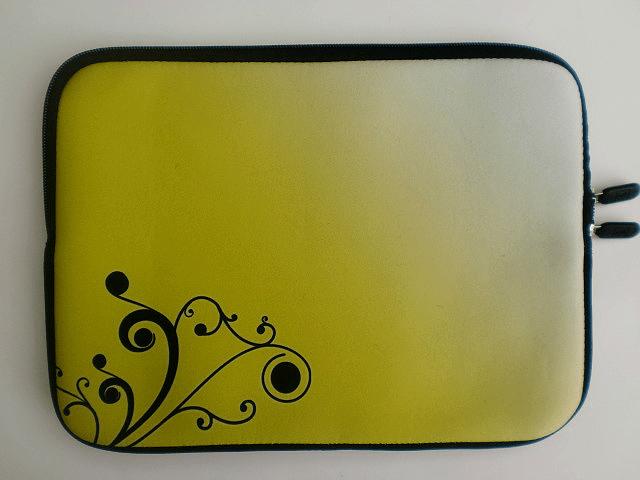 Datorfodral - Gul med gren
