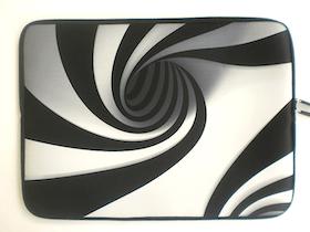 Datorfodral - Abstrakt svart/vit