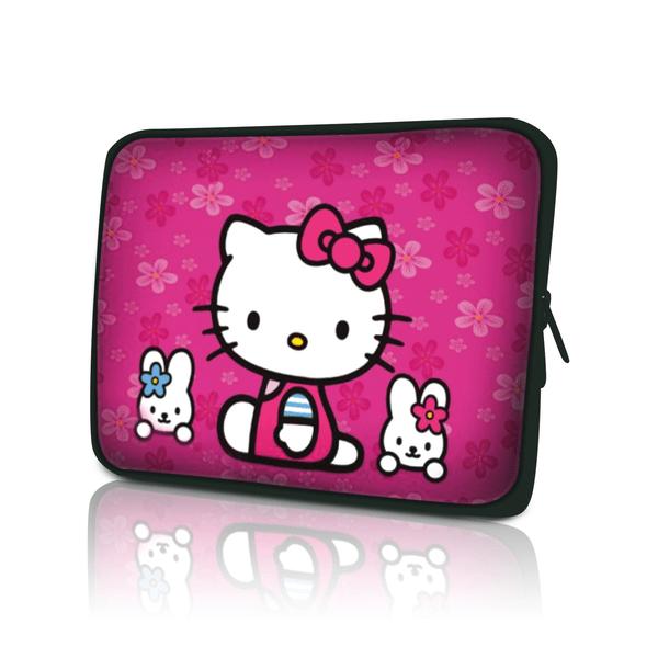 Datorfodral - Hello Kitty blommor