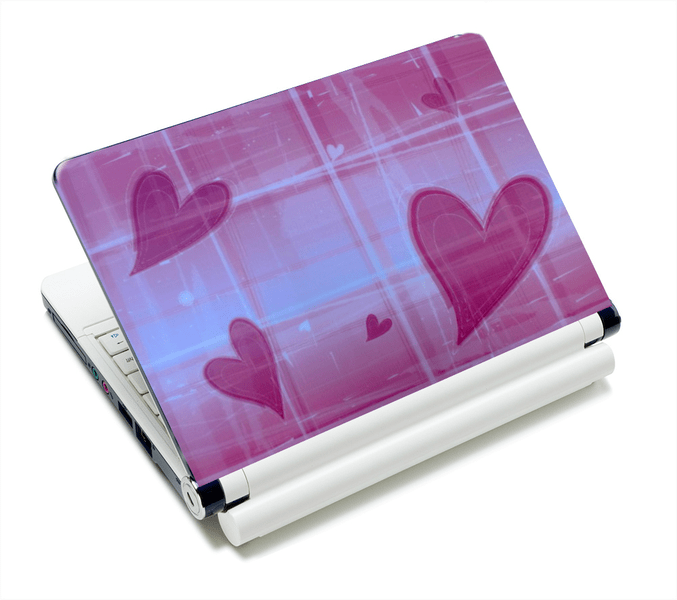 Datorskin - Rosa hjärtan