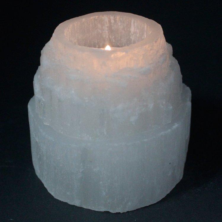 Ljuslykta Selenit Torn 8 cm