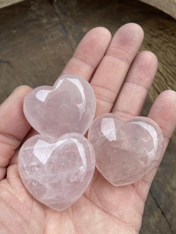 Hjärta Rosenkvarts 4 x 4 cm