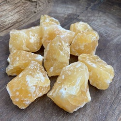 Kalcit gul rå