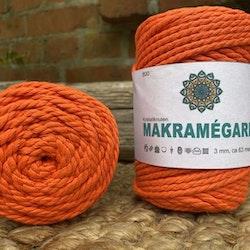 Makramégarn Orange 3 mm